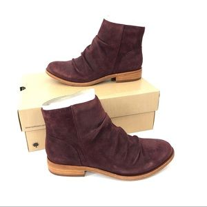 Kork-Ease Giba Suede Ankle Boot 6.5 Wine Magenta